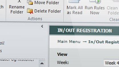 Weekly timesheet in Microsoft Outlook