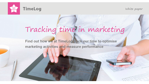 Tracking time in marketing